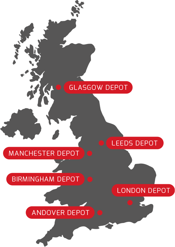 TRAD UK Depots Map