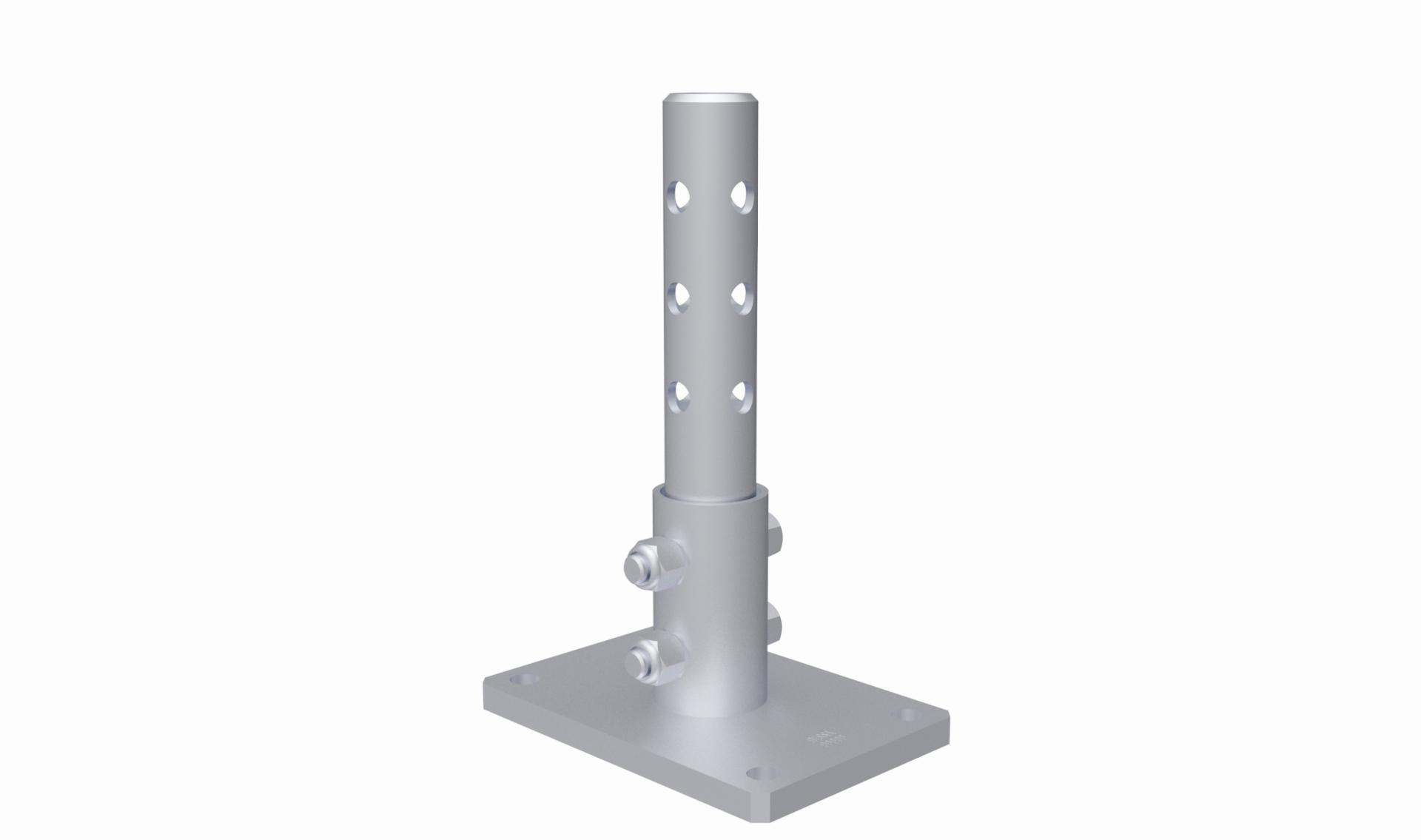 Castor Tube Stem Top Plates