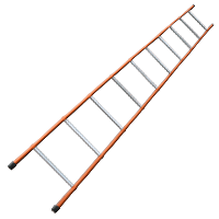 Epoxy Coated Steel Ladder